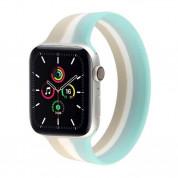 JC Design Silicone SoloLoop Band - силиконова каишка за Apple Watch 42мм, 44мм (бял-син)