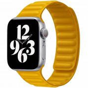 JC Design Silicone Link Band - магнитна силиконова каишка за Apple Watch 38мм, 40мм (жълт)