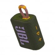 JBL Go 3 Portable Waterproof Speaker - безжичен водоустойчив спийкър за мобилни устройства (зелен) 2