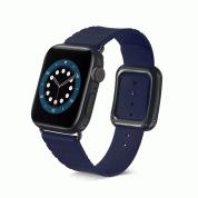 JC Design Modern Buckle Band - силиконова каишка с магнитна закопчалка за Apple Watch 42мм, 44мм (тъмносин)