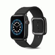 JC Design Modern Buckle Band - силиконова каишка с магнитна закопчалка за Apple Watch 38мм, 40мм (черен)