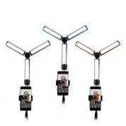4smarts LoomiPod OnTheGo Mobile Video Light With Tripod Holder - трипод с три държача за смартфон или таблет и LED светлина за предаване на живо (черен) 7