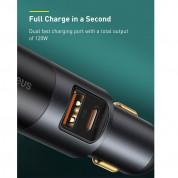 Baseus Cigarette Lighter Expansion Car Charger USB & USB-C QC 120W (CCBT-C0G) - зарядно за кола с USB-A и USB-C изходи и технология за бързо зареждане (тъмносив) 3