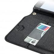 Dux Ducis Universal Case Size B - универсален кожен калъф, тип портфейл за смартфони от 5.2 до 5.5 инча (черен) 4