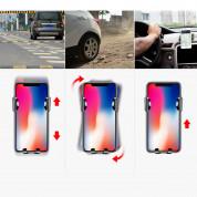 Baseus Osculum Type Gravity Car Mount (SUYL-XP09) - поставка за таблото на кола за смартфони с ширина от 63 до 85 мм (черен-червен) 5