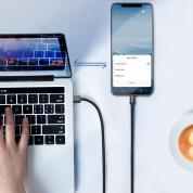Baseus Durable Nylon USB-A to USB-C Cable PD 2.0 100W (CATKC-A01) - здрав кабел с въжена оплетка и бързо зареждане за устройства с USB-C порт (100 см) (черен) 10