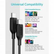 Anker PowerLine III USB-C to USB-C 2.0 Cable - бърз и издръжлив кабел за зареждане на устройства с USB-C порт (90 см) (черен) 5