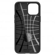 Spigen Liquid Air Case - силиконов (TPU) калъф с висока степен на защита за iPhone 12 Pro Max (черен) 2