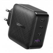 Ugreen GaN Fast Wall Charger PPS 65W - захранване за ел. мрежа за лаптопи, смартфони и таблети с USB и 3xUSB-C изходи с технология за бързо зареждане (черен) 1