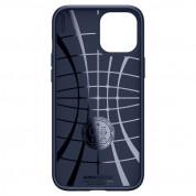 Spigen Liquid Air Case - силиконов (TPU) калъф с висока степен на защита за iPhone 12 Pro Max (син) 3
