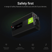 Инвертор за кола - Green Cell Voltage Car Inverter INV07 UPS For Furnances And Central Heating Pumps 300W  3