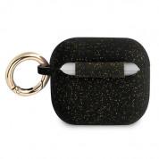 Guess AirPods 3 Silicone Glitter Case - силиконов калъф с карабинер за Apple Airpods 3 (черен) 1