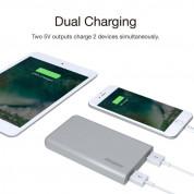 Energizer HighTech Power Bank 8000 mAh - преносима външна батерия с 2xUSB-A изходи за зареждане на мобилни устройства (тъмносив) 5