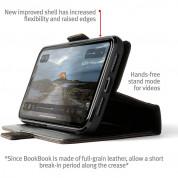 TwelveSouth BookBook v2 - луксозен кожен калъф (с кейс) тип портфейл за iPhone iPhone 11 Pro Max, iPhone XS Max (кафяв) 2