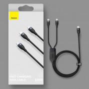 Baseus Flash Series 2in1 100W Fast Charging USB-C to Lightning and USB-C Cable (CA1T2-F01) - здрав USB-C кабел с бързо зареждане за устройства с Lightning и USB-C порт (120 см) (черен) 17