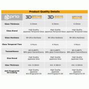 Prio 3D Glass Full Screen Curved Tempered Glass - калено стъклено защитно покритие за дисплея и камерата на iPhone 11 Pro Max, iPhone XS Max (черен-прозрачен) 4