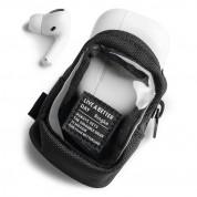 Ringke Block Pocket Mini Pouch  - компактен органайзер с един джоб за кабели, слушалки, ключове и др. (черен-прозрачен)