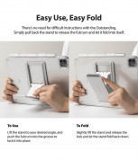 Ringke Fusion Combo Case - удароустойчив хибриден кейс и сгъавема поставка за Samsung Galaxy Tab S7 (прозрачен) 7