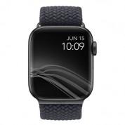 Uniq Aspen Adjustable Braided Band  - текстилна каишка за Apple Watch 42мм, 44мм (тъмносив) 3