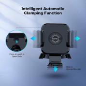 TechRise Wireless Car Charger 10W & Air Vent Holder - поставка за радиатора на кола с безжично зареждане за Qi съвместими смартфони (черен) 2
