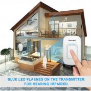 TeckNet HWD01162WU02 Wireless Plug-in Digital Doorbell - комплект 2 броя иновативни безжични звънци и предавател за входна врата (бял) 3