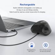 TeckNet EWM01576BA01 Ergonomic Wireless Mouse - ергономична оптична мишка (за Mac и PC) (черен) 2