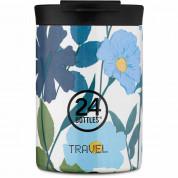 24 Bottles Travel Tumbler 350ml - вакуумно изолирана бутилка за всекидневна употреба с капацитет 350 мл (син)