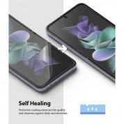 Ringke Invisible Defender Screen Protector - защитни покрития за дисплея на Samsung Galaxy Z Flip 3 (2 броя) 4