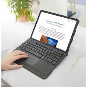 Dux Ducis Wireless Touchpad Keyboard Case - полиуретанов калъф, клавиатура, тракпад и поставка за iPad Pro 11 M1 (2021), iPad Pro 11 (2020), iPad Pro 11 (2018), iPad Air 4 (2020) (черен) 13