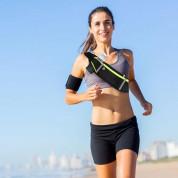 Ultimate 4-pocket Running Belt - универсален спортен калъф за кръста с 4 джоба за смартфони (сив) 19