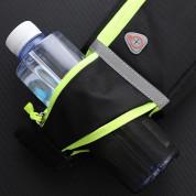 Ultimate 4-pocket Running Belt - универсален спортен калъф за кръста с 4 джоба за смартфони (черен) 12