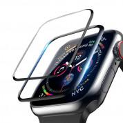 Next One Screen Protector 40mm - защитно покритие с извити ръбове за дисплея на Apple Watch 40мм (черен-прозрачен) 2