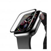 Next One Screen Protector 40mm - защитно покритие с извити ръбове за дисплея на Apple Watch 40мм (черен-прозрачен) 1