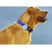 JC AirTag Pet Collar Back Clip - силиконов държач за каишки за домашни любимци за Apple AirTag (тъмносин) 1
