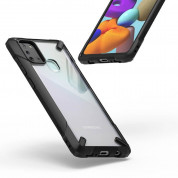 Ringke Fusion X - удароустойчив хибриден кейс за Samsung Galaxy A21s (черен-прозрачен) 2
