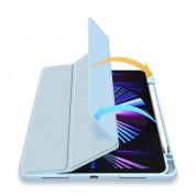 DUX DUCIS Toby Tablet Case - хибриден удароустойчив кейс с отделение за Apple Pencil 2 за iPad Air 4 (2020) (син) 8