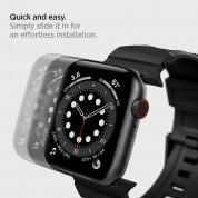 Spigen Rugged Band - хибридна каишка (полимер+карбон) за Apple Watch 45мм, 44мм и 42мм (черен) 8