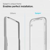 Spigen Glass.Tr Align Master Full Cover Tempered Glass - калено стъклено защитно покритие за целия дисплей на iPhone 13 mini (черен-прозрачен) 5