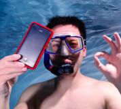 Krusell SEaLABox L - универсален водоустойчив калъф за iPhone и мобилни телефони (бял) 5