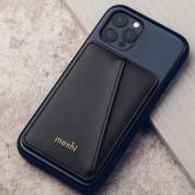 Moshi SnapTo Magnetic Slim Wallet - кожен портфейл (джоб) за прикрепяне към Moshi кейсове и калъфи със SnapTo технология за закрепяне (черен) 2