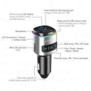 4smarts Media Assist 2 Car Charger with FM Transmitter and Media-In - зарядно за кола (Quick Charge) с трансмитер, MicroSD карта и дисплей (черен) 3