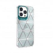 SwitchEasy Artist Aurora Case - дизайнерски хибриден удароустойчив кейс за iPhone 13 Pro (прозрачен)  1