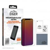 Eiger Mountian Glass Ultra Screen Protector 2.5D - калено стъклено защитно покритие с антибактериален слой за дисплея на iPhone 13 Pro Max (прозрачен)