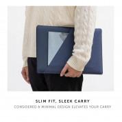 Native Union Stow Sleeve - качествен полиуретанов калъф за MacBook Pro 16, Pro 15 и лаптопи до 16 инча (тъмносин) 4