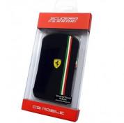 Ferrari Scuderia Series Pouch V3 -  кожен калъф за iPhone 4/4S (черен) 1