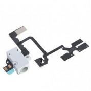 OEM Audio Jack Flex Cable - оригинален модул за звука за iPhone 4 (бял)