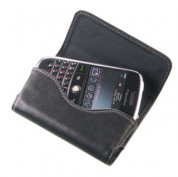 BlackBerry Leather Case - кожен калъф за BlackBerry 9000 Bold, 8520 Curve, 9300 Curve, 9700 Bold, 9780 Bold, 9800 Torch и др. (черен) 1