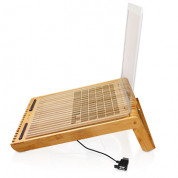 Macally EcoFanXL bamboo cooling stand with USB fan for Laptop computer 1