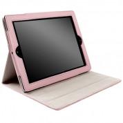 Krusell Avenyn Case - кожен калъф и стойка за iPad 4, iPad 3, iPad 2 (розов) 3