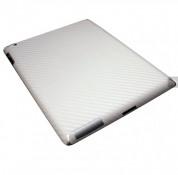 xGear ExoSkin Carbon - комплект карбоново фолио за iPad 4/3 (бял) 1
